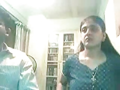 Tndian Couple On Webcam